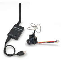 Mini 5.8G FPV Receiver UVC Video Downlink OTG VR + 5.8G 48CH 25MW 100MW Switchable 600TVL FPV Camera Built in Transmitter for RC