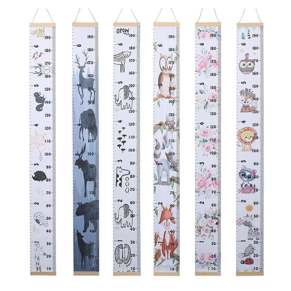 Wooden Wall Hanging Baby Toddler Growth Children Height Measure Table Ruler Wall Sticker For Children Kids Room Home Decoration