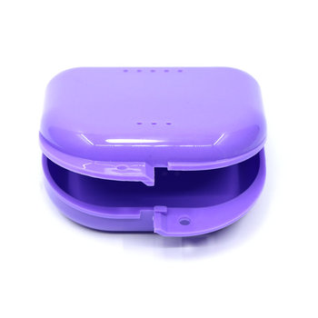dental 1Pcs Dental Small Denture Bath Box Dental Case Dental False Teeth Brace Box Dental Tray Box