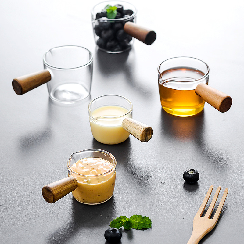 Mini Glass Frothing Coffee Pitcher Pull Flower Cup Cappuccino Milk Pot Espresso Cups Latte Art Milk Frother Frothing Jug