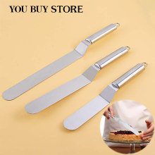 Baking Accessories Stainless Steel Cake Spatula Butter Cream Icing Frosting Knife Smoother Kitchen Pastry Cake Decoration Tools