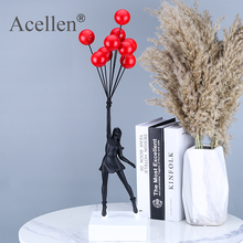 Flying Balloons Girl Art Sculpture Banksy Balloon Girl Statues Abstract Modern Resin Craft Home Decor Nordic Home Decoration Gif
