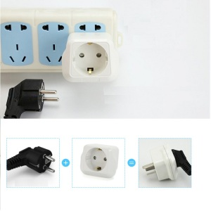 Image 5 - EU to CN plug Travel Power Adapter electric appliance adaptor German standard to China standard Converter Electrical Plug