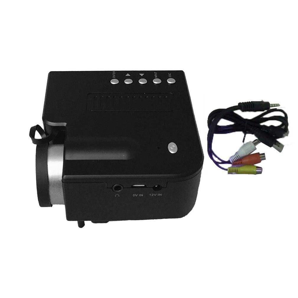 חם UC28B + בית מקרן מיני מיניאטורי נייד 1080P HD הקרנת מיני LED מקרן לקולנוע ביתי בידור