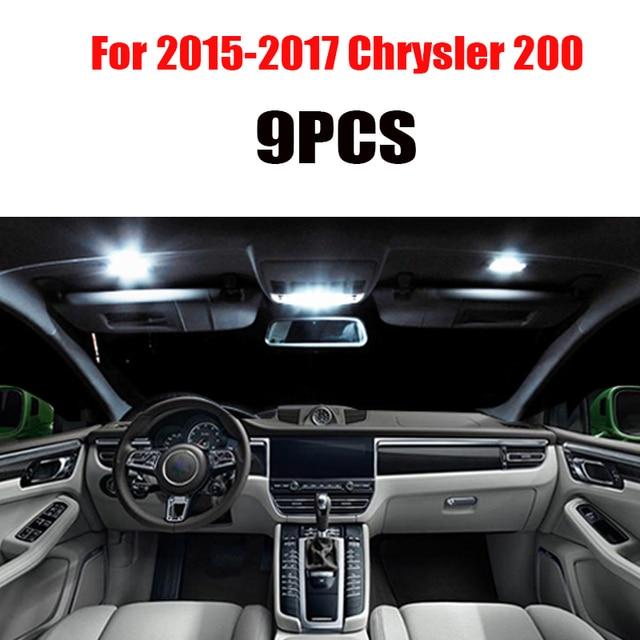 For 2011-2017 Chrysler 200  White car accessories Canbus Error Free LED Interior Light Reading Light Kit Map Dome License Lamp 6