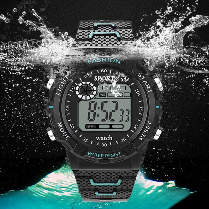 Retro Digital Sports Casual LED Watch Display Date Unisex Males Quartz Watch Electronics Men Clock Wristwatch Relogio Masculino