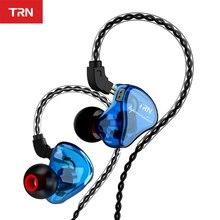 TRN IM1 Pro 1BA 1DD hybrydowy w ucho słuchawki sportowe do biegania zestaw słuchawkowy hi fi odpinany odłączyć słuchawki TRN v30 V80 IM2 V20 VK1 BT20 S2