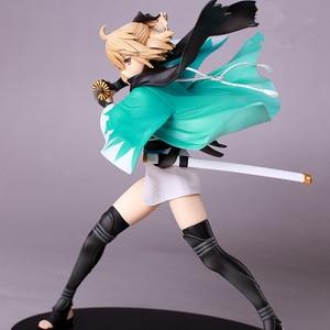 Image 3 - 21cm Anime Action Figure Fate Grand Order KOHA ACE Okita Souji Sakura Saber Fighting Ver PVC Model Collection Kids Toy Brand New
