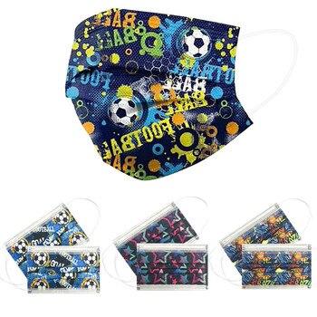 50pcs Child Kids Mask Disposable 3 Layer Facial Mask Cartoon Fashion Prints Safe Protect Face Shield Mascarilla 1