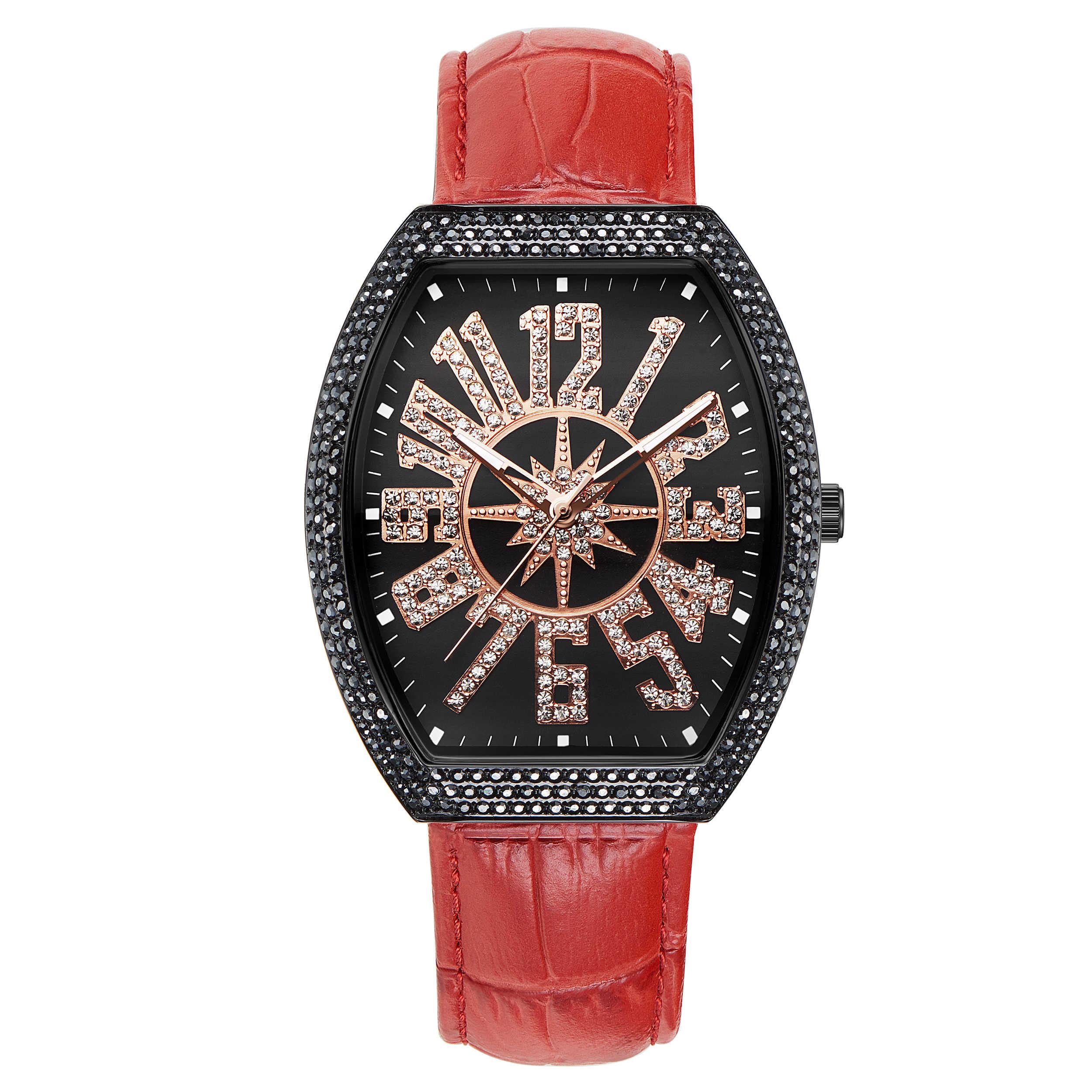 67/5000 Davena ใหม่ติฮัวนา Keg แฟชั่นนาฬิกาสุภาพสตรีนาฬิกาผู้ชายนาฬิกาขนาดใหญ่นาฬิกากันน้ำเข็มขัดหนัง FAS