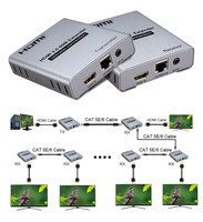 Conexão 4 k 60 hz da cascata do extensor 60 m de hdmi 2.0 através do conversor do receptor do transmissor do cabo ethernet 1080 p 120 m cat5e/6 cat6 rj45 Cabos HDMI     -