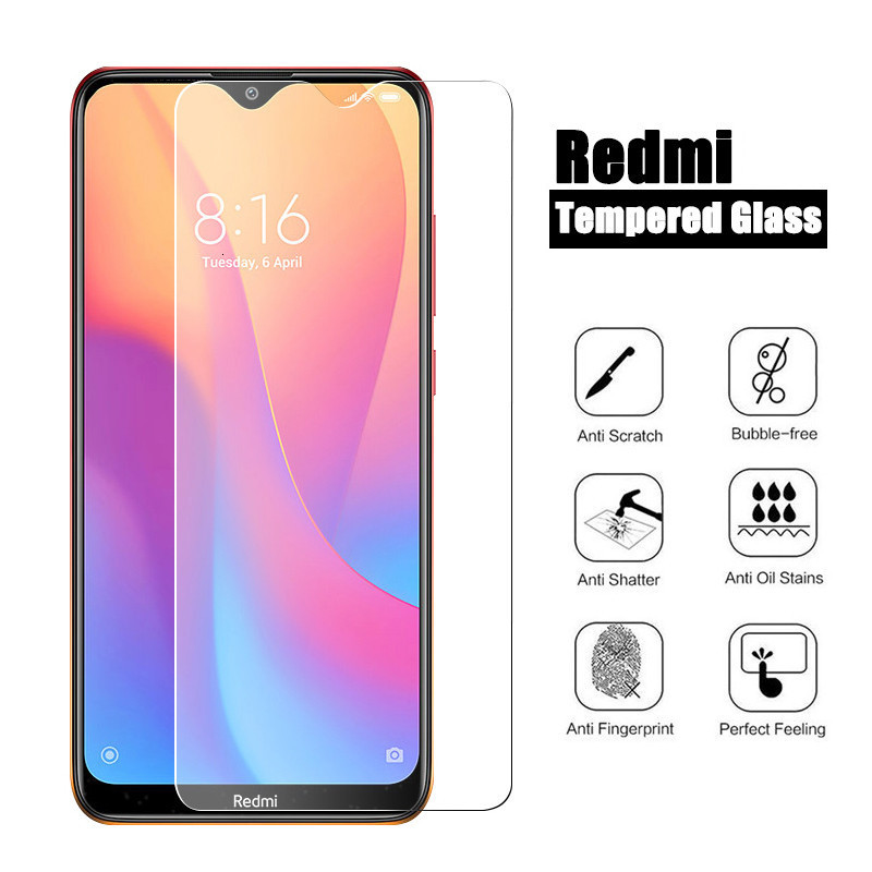 9H Tempered Glass On For Xiaomi Redmi 8 8A Note 8 Pro Note 7 Pro 7A Note 6 5 Pro For Xiaomi Redmi 7 8 A Screen Protector Glass