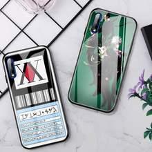 ZUOHCFC-funda de teléfono para Huawei P30 Lite 20 Por Mate 9 Honor 10 NOVA 5, protector de cristal para Huawei P20, Hunter X Hunters HXH