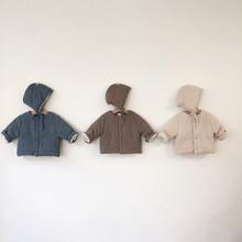 Zimowe ubrania dla dzieci gruby polar kurtka dla dzieci z kapeluszem odzież wierzchnia dla chłopców odzież dla niemowląt kurtka dla niemowląt dziewczyny płaszcz bawełna 0-2Y tanie tanio dibeberabbit W wieku 0-6m 7-12m 13-24m Unisex W stylu Preppy CN (pochodzenie) COTTON baby clothes Pasuje prawda na wymiar weź swój normalny rozmiar