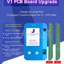 JC V1 Upgrade PCB Board Für Ip 11 11Pro Max LCD Touch Screen Display Reparatur Licht Sensor Wahr Ton Recovery programmierer
