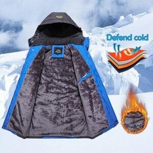 Image 4 - Winter Mannen Outdoor Jas Waterdicht Warm Jassen Man Casual Thicken Fluwelen Jasje Plus Size Mens Uitloper Bergbeklimmen Overjas