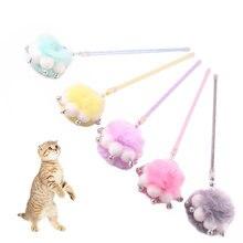 Красочная плюшевая шариковая палочка для кошек с маленькими