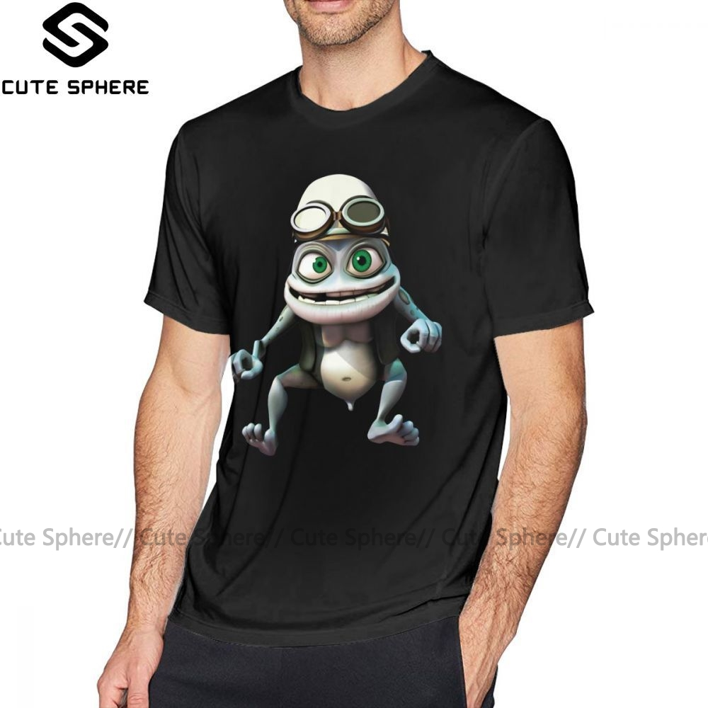 Crazy <font><b>Frog</b></font> T Shirt Crazy <font><b>Frog</b></font> T-Shirt Cotton Graphic Tee Shirt Short Sleeves 4xl Casual Male Cute <font><b>Tshirt</b></font> image