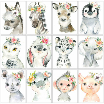 Animals DIY Diamond Painting 5D Owl Horse Full Drill Square/Round Embroidery Pig Elephant Mosaic Cross Stitch Decor Home