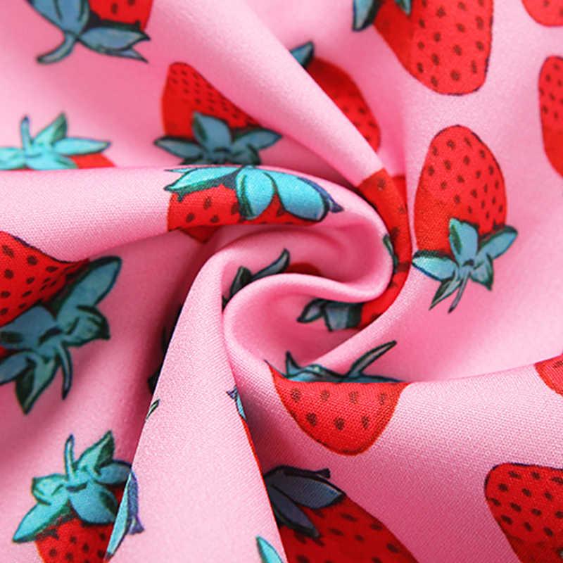 LVINMW 섹시 사이드 분할 미니 높은 허리 딸기 스커트 2020 여름 여성 패션 슬림 스키니 핑크 세련된 여성 스커트 거리