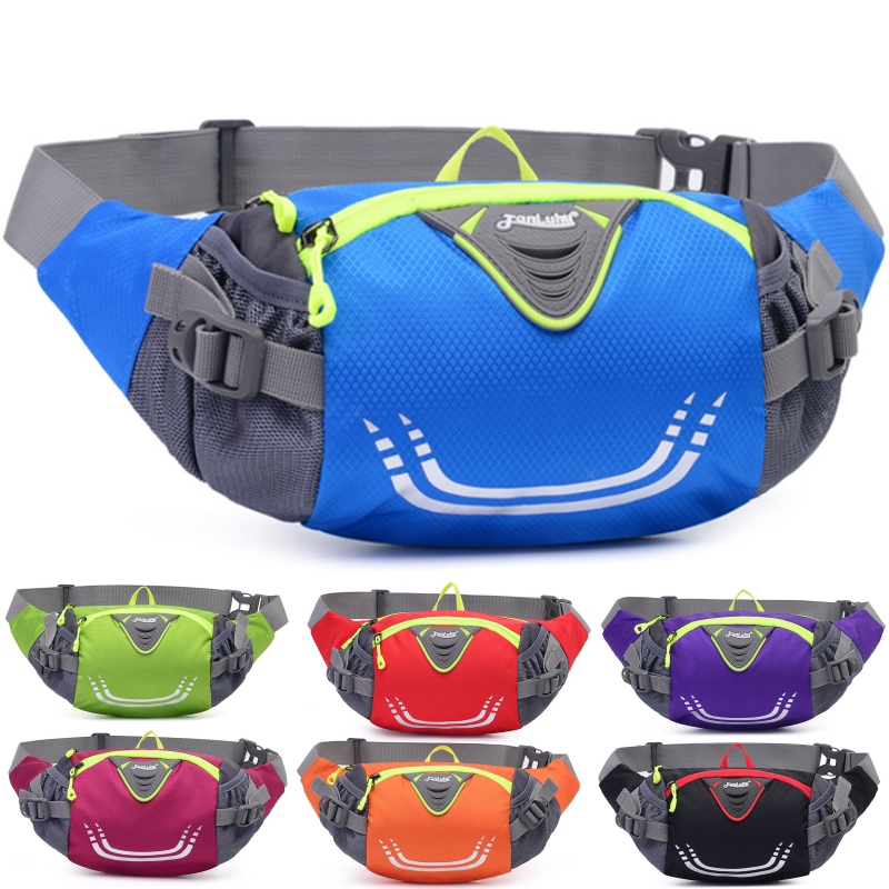 Bike Riding Cycling Running Fishing Hiking Waist Bag Fanny Pack Outdoor Belt Kettle Pouch Gym Sport Fitness Water Bottle Pocket