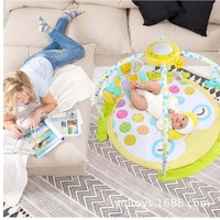Newborn Starry Sky Projection Music Bed Bell Foot Piano Baby Fitness Science Fun Toy 0 8 Months Rotating Pendant Music Bed Bell