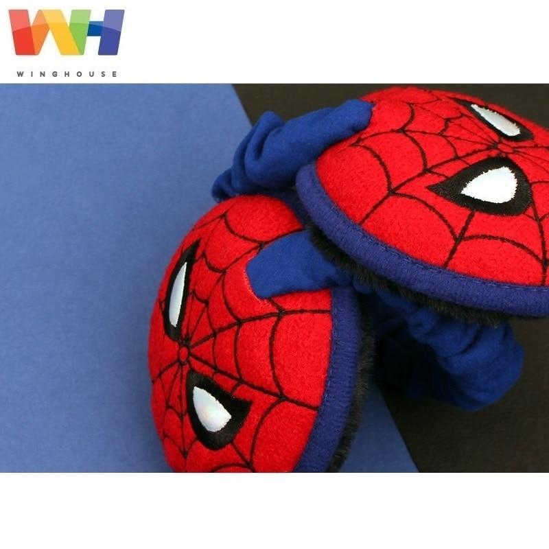 Winghouse Children Earmuffs Marvel Spider-man Ear Cover Plush Warm EarBags Boy Windproof Earplugs Winter Headphones Earflags
