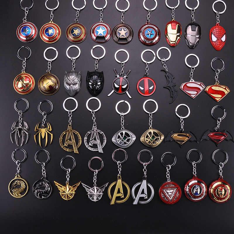 Горячая Marvel Мстители Железный человек сердечко, маска Thor's Hammer брелок Капитан Америка Человек-паук танос Бесконечность перчатки мужской подарок