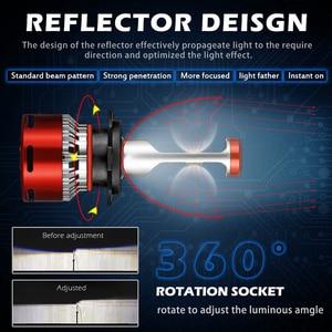 Image 3 - Katur 12000Lm توربو مصباح ليد لمبات للسيارات H8 H11 LED H4 9005 9006 HB4 HB3 H7 9012 HIR2 مصابيح 12V CPS الصمام العلوي H7 LED