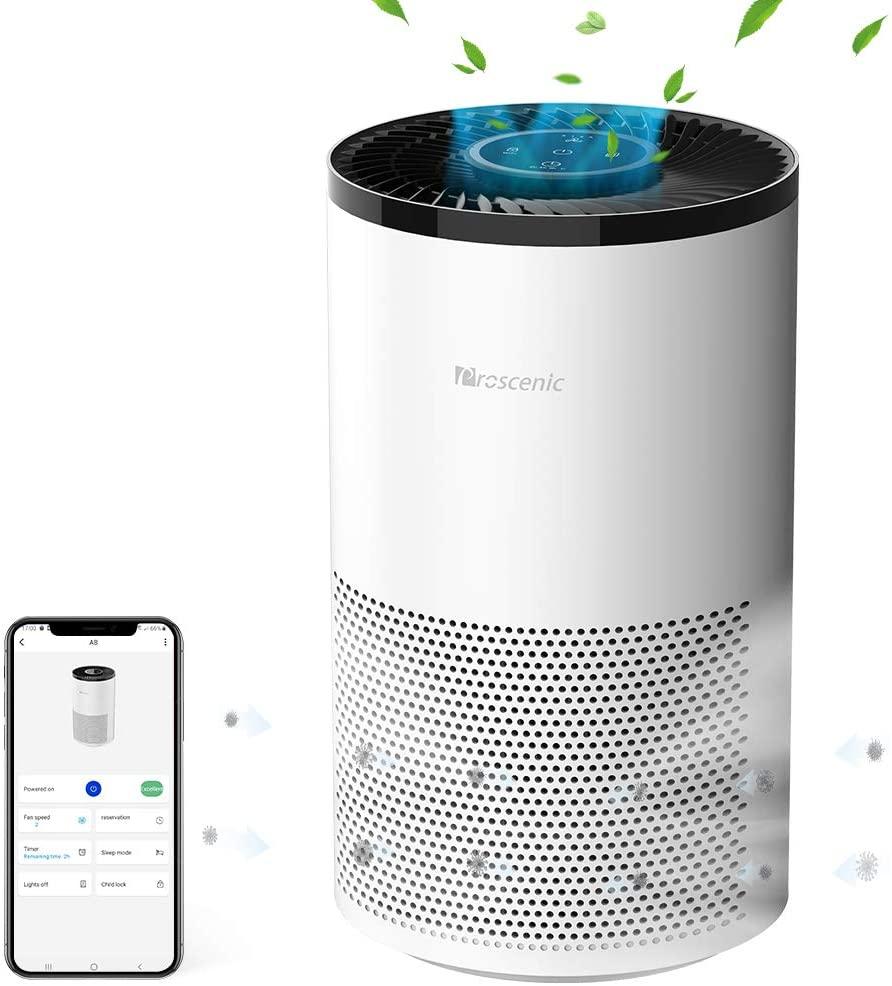 Purificateur dair intelligent proscénic A8 pour la maison avec filtre H13 HEPA nettoyant pour Allergies et animaux fumeurs, moisissures, Pollen, poussière