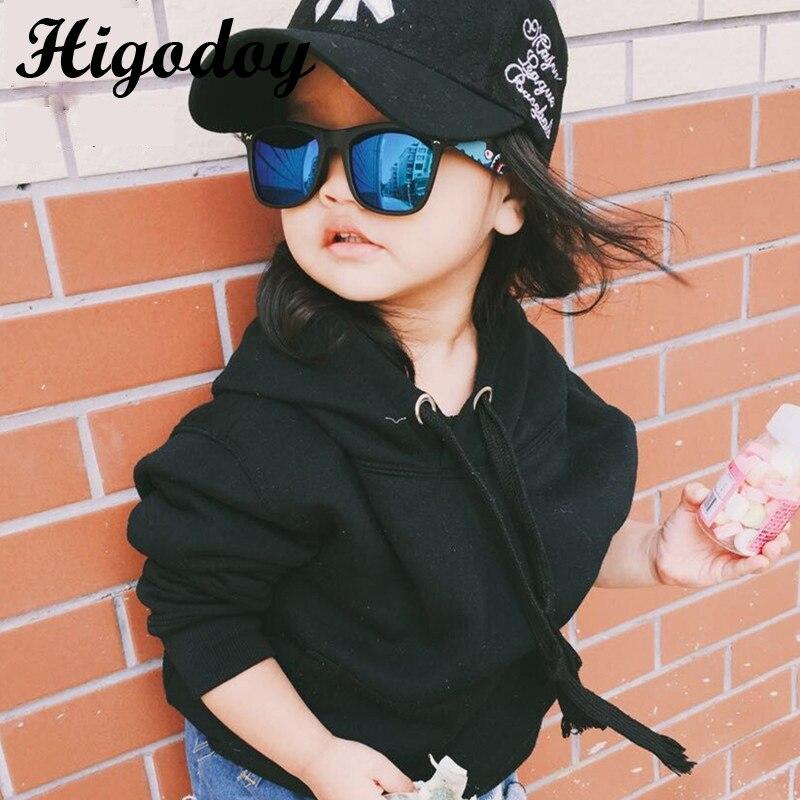 Higodoy Retro Oversized Square Children Sunglasses For Boys Goggle Vintage Kids Sunglasses Girls Glasses Oculos Gafas Sol Uv400
