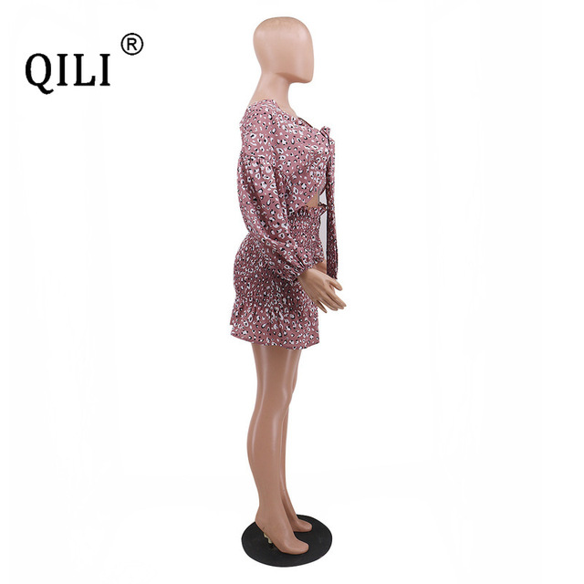 Купить qili сексуальное бандажное платье для женщин с рукавом фонариком картинки цена