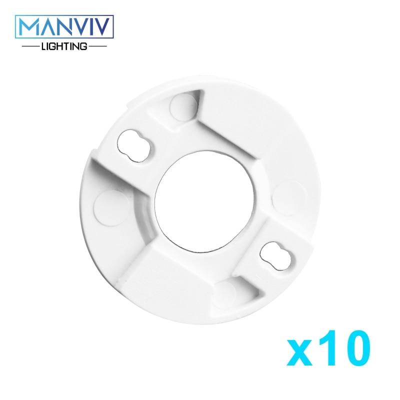 10pcs LED COB Chip Fixed Holder Bead Setting White 28mm*28mm Insided Size 11mm Round Base For DIY Floodlight Spotlight Lamp