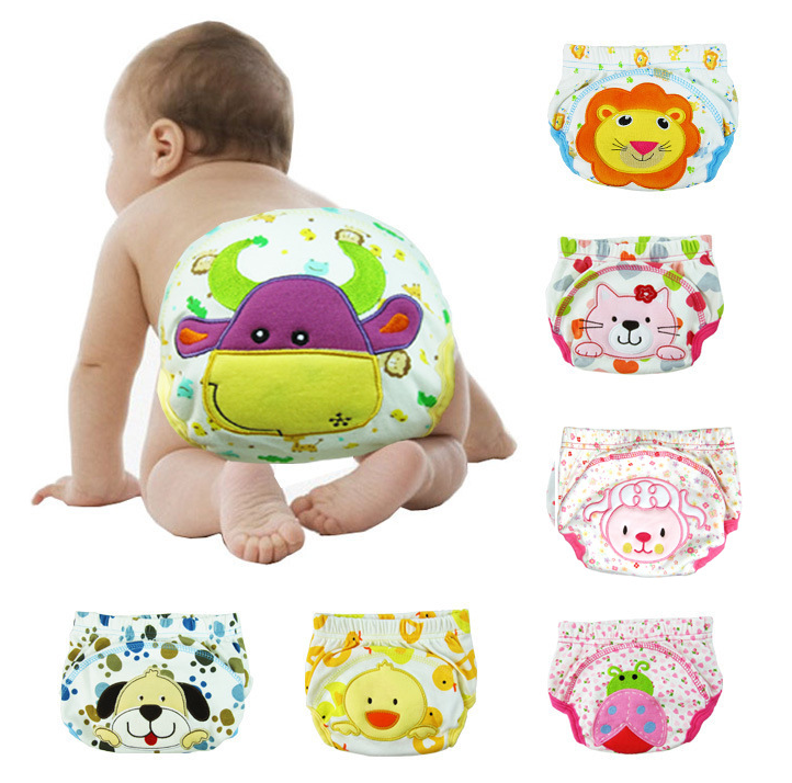 Baby Diapers Reusable Nappies Cloth Diaper Washable Infants Children Baby Cotton Training Pants Panties