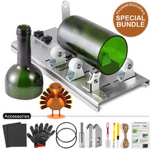 Glass Bottle Cutter DIY Machine For Cutting Wine Beer Whiskey Alcohol Champagne Craft Gloves Glasses Accessories Tool Kit 10pcs