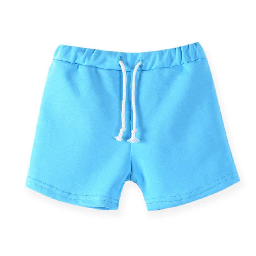2020 夏新スタイルベビー男の子女子ショートパンツキャンディー色ひもカジュアル純粋な綿のスポーツのズボンの服