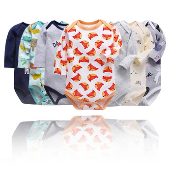 newborn bodysuit baby babies bebes clothes long sleeve cotton printing infant clothing 1pcs 0-24 Months newborn baby girl clothes footies lucky child cotton cartoon printing infant clothing 1pcs 0 12 months