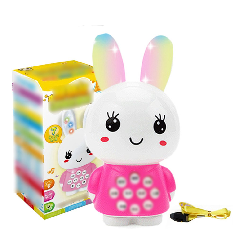 Early Education Machine Toy Cartoon Bunny Mini Story Machine Multi-Function Music Ancient Poem Baby Learning Machine