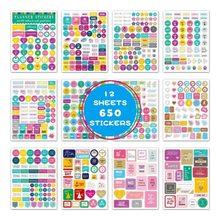 Diary Journal Sticker Calendar Planner Scrapbook-Decoration Office-Stationery School
