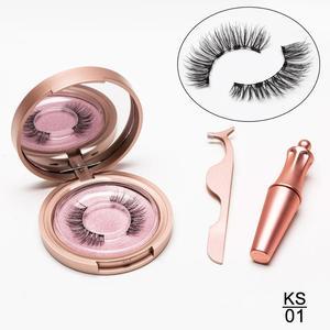 Image 2 - Lot de 5 faux cils magnétiques Eyeliner, extensions de cils longs naturels
