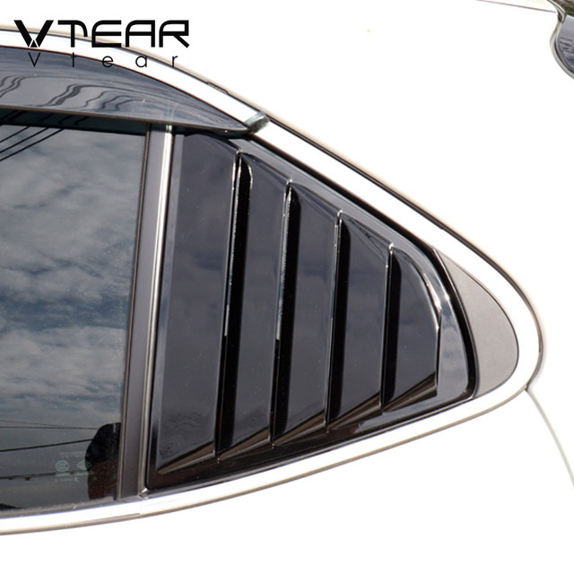 Vtear For Toyota Camry Rear window triangle ABS decoration car-styling cover exterior frame chrome accessories Trim parts 2020 3