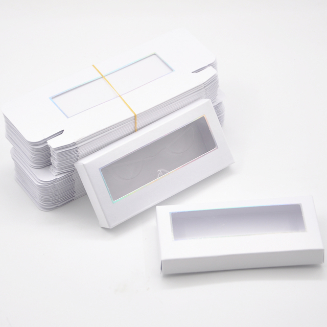Wholesale Eyelash Packaging Box Lash Boxes Package Custom Without Tray Dark Pink Rectangle Cardboard Makeup Storage Case Vendor 5