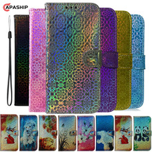Colorful Leather Flip Case For Huawei Honor 9 10 20 Lite 7A