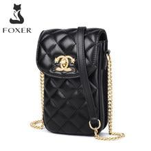 FOXER – sacs à main de marque pour femmes, Mini sacs à bandoulière à rabat pour téléphone portable