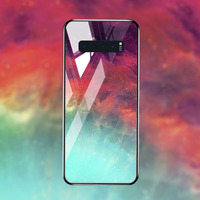 silicone case Tempered Glass Case For samsung galaxy S10 S9 S8 plus Cases Space Silicone Covers for samsung S10E note 8 back cover (4)