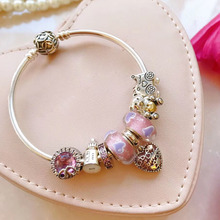 High Quality 1:1 100% 925 Silver Pure love freight bracelet accounts Free shippi