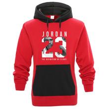 2019 nowy marka moda zima nowy JORDA 23 nadruk w litery czarny męska bluza męska nowość swetry sweter odzież męska tanie tanio Pełna Mężczyźni Na co dzień Drukuj REGULAR Skręcić w dół kołnierz Bluzy Brak Polar COTTON Poliester NONE
