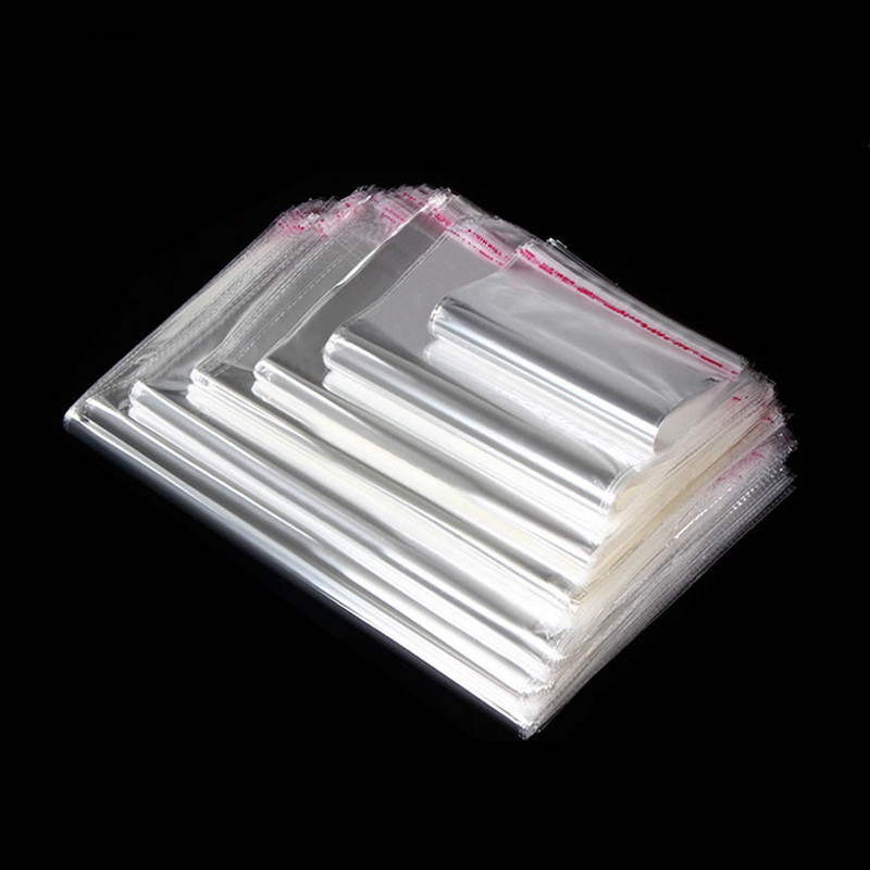 1pack Clear Transparent Plastic Bags Self Adhesive Opp Bags 5*7/6*10/8*12/9*14/11*17cm OPP Bags For Diy Jewelry Making Packaging