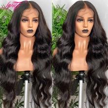 Lanqi 30 32 Zoll Körper Welle Spitze Vorne Perücke Lange Menschliches Haar Perücke 4x4 Spitze Schließung Perücke Brasilianische laceFront Menschliches Haar Perücken Für Frauen