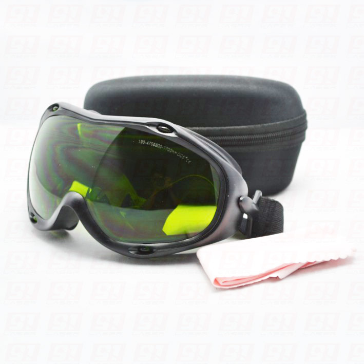 Laser Safty Goggle For 190-470nm&800-1700 O.D 5+ CE Certified,255, 355, 405-450, 808, 980nm,1064nm Fit Over Prescription Glasses